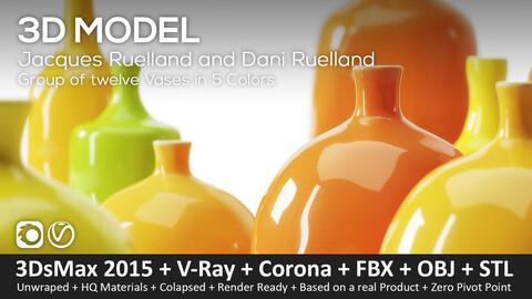 Jacques Ruelland and Dani Ruelland 12 Vases