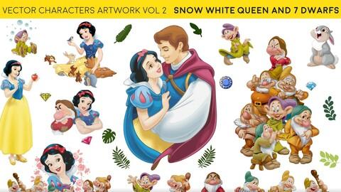 Snow White Queen - vector characters art vol 2