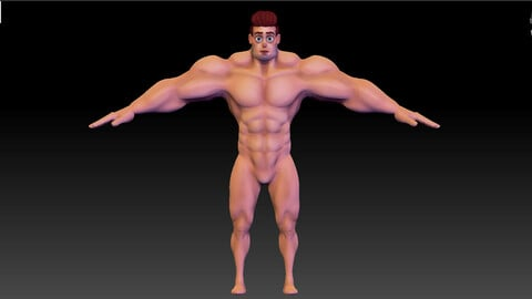 ZBrush Stylized Character Man Base Mesh - Hecxa - Free Download