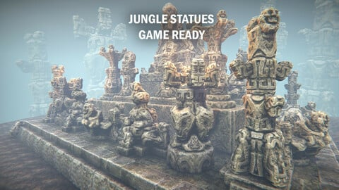 Jungle statues