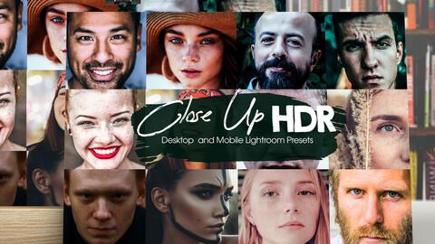 Close Up HDR Effects Lightroom Presets