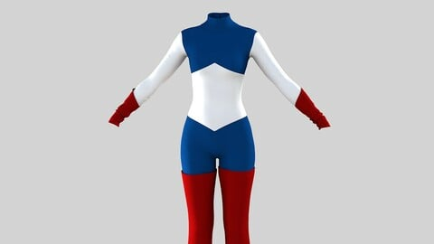 Women American Super Hero Costume with boots