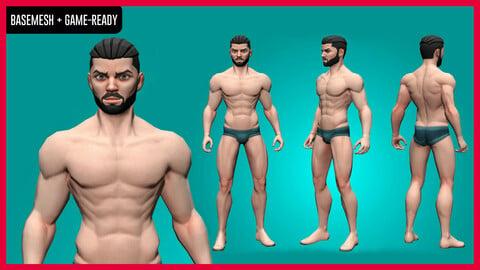 Kiroh - Stylized Male Character Basemesh - Game-Ready