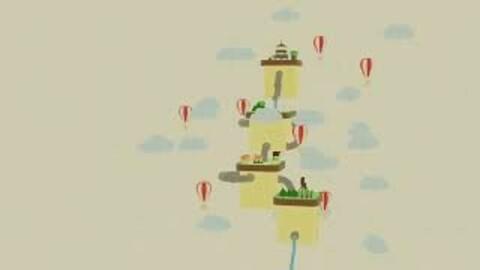 Flying Island scene