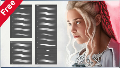 Portrait Brushes for Photoshop 2 and 3 (Free)