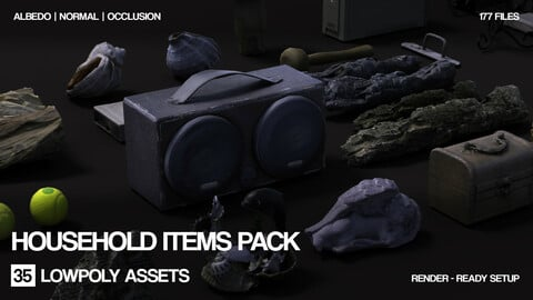 Free Household items pack | Photogrammetry | 35 items