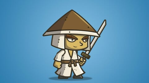 Chibi Samurai – Conical Hat