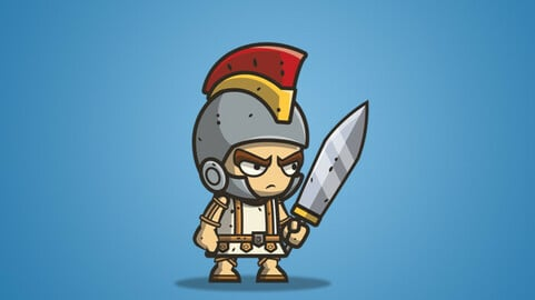 Micro Style Character – Roman Knight