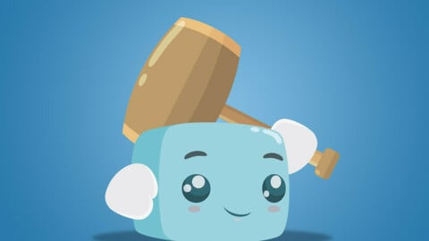 Boky The Cute Cube Free 2D Character Sprite