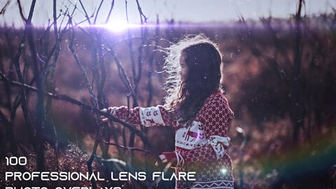 100 Professional Lens Flare Photo Overlays