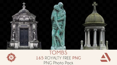 PNG Photo Pack: Tombs