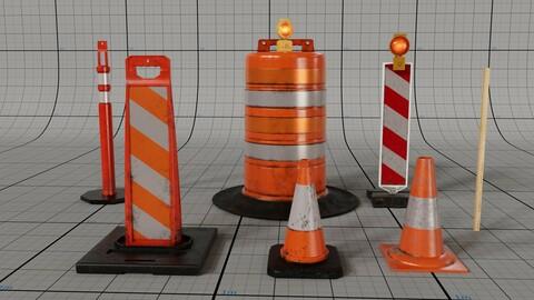 Traffic Cones Model Pack vol.1