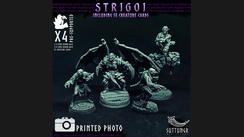 Vampire Strigoi - Pre-Supported 3d Print Miniatures