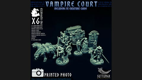 Vampire Court - Pre Supported 3D Print Miniatures