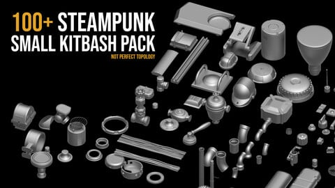 100+ Steampunk small Kitbash pack Vol_2