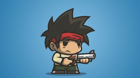 Tiny Guy – Arnold 2D Character Sprite