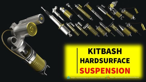 Suspension kitbash hardsurface