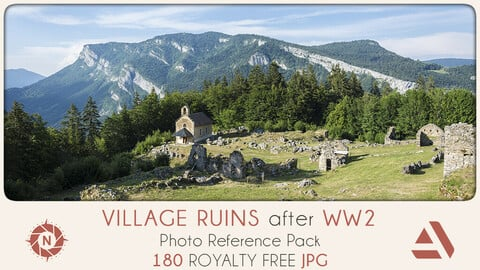 Photo Reference Pack: Village Ruins WW2