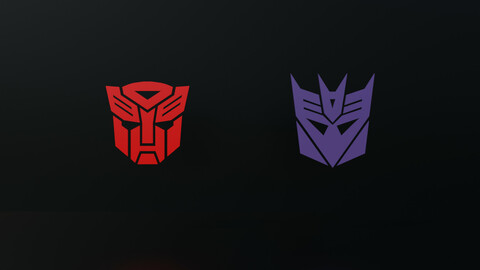 Autobot and Decepticon Logos Pack 1