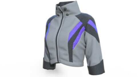 Jacket - Marvelous Designer & CLO3d projects + OBJ
