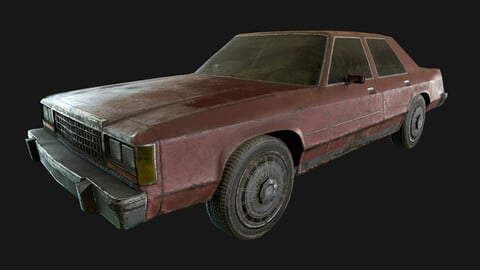 Ford Crown Victoria 1970 (LowPoly)