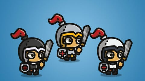 Tiny Style Character – Knight 2D Character Sprite