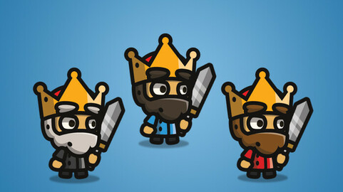 Tiny Style Character – King 2D Character Sprite