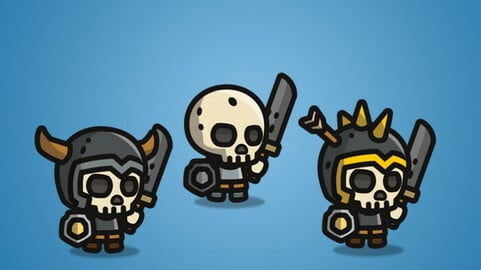 Tiny Style Character – Skeleton 2D Character Sprite