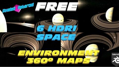 6 FREE HDRI SPACE ENV MAPS BONUS (SATURN FLAVOUR)