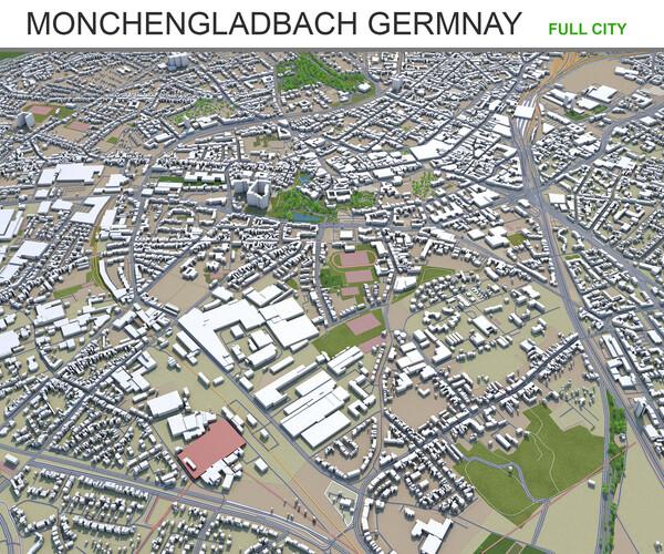 Artstation Monchengladbach City Germnay 3d Model 50km Resources