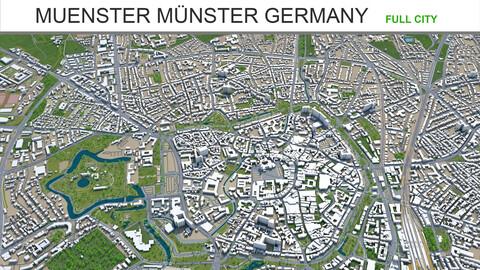 Muenster Münster city Germany 3d model 60km