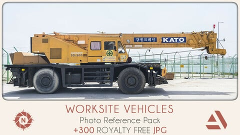 Photo Reference Pack: Worksite Vehicles