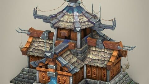 Game Ready Fantasy Medieval House