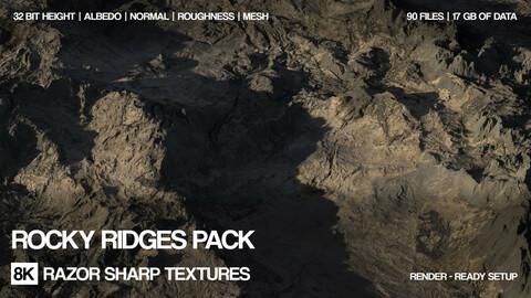 15 x 8K Rocky ridges pack
