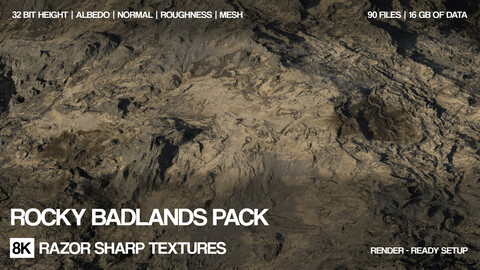 8K Rocky badlands pack