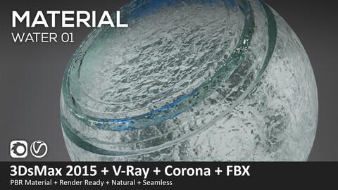 Water 01 – Material V-ray and Corona