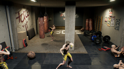 Unreal 4 Old gym
