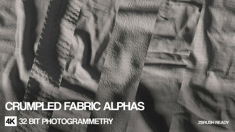 4K  Crumpled fabric alphas | 32 bit scans