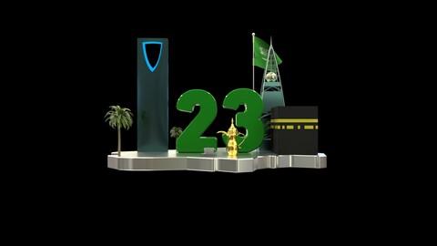 3D model some of the landmarks of KSA   بعض من معالم المملكة العربية السعودية تصميم ثلاثي الابعاد