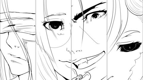 Manga Style Lineart