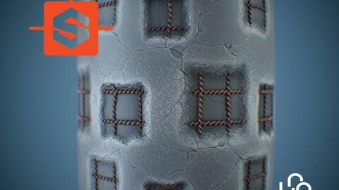 Substance Designer Tutorial - Stylized Concrete Damaged