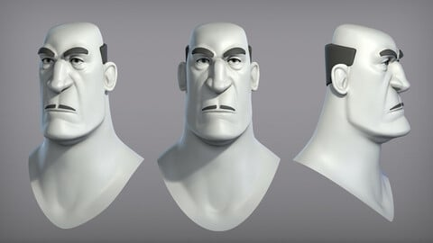 Cartoon male character Carlo base mesh