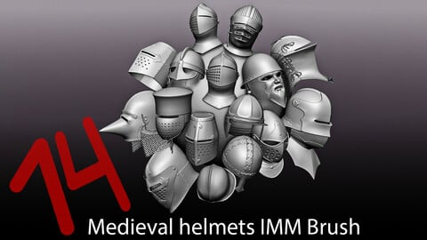 IMM zbrush medieval helmets