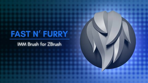 [IMM Brush] Fast N' Furry IMM Brush for ZBrush 2021