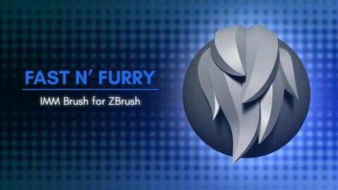 [IMM Brush] Fast N' Furry IMM Brush for ZBrush 2021