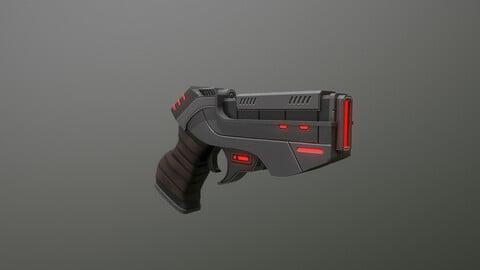 Sci FI Pistol Low-poly 3D model