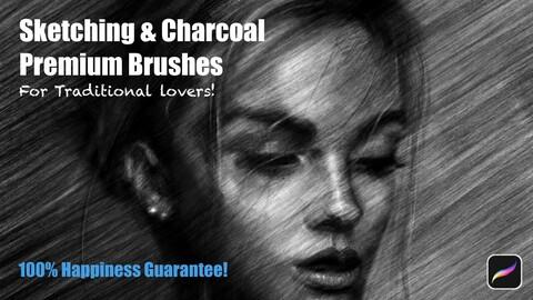 Sketching & Charcoal Brushes [Artwork + Lifetime Update]