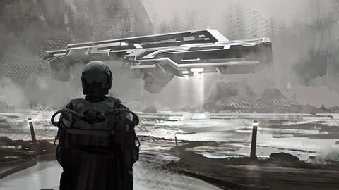 Sci-Fi Art PSD