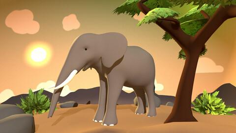 Elephant - Stylized