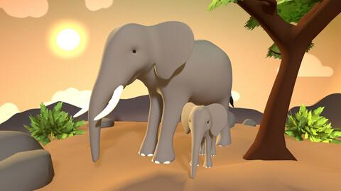 Elephant Pack - Stylized